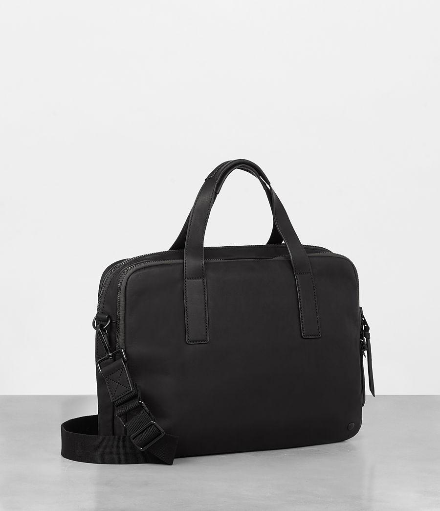 Mens Hayes Leather Workbag (black) - Image 5