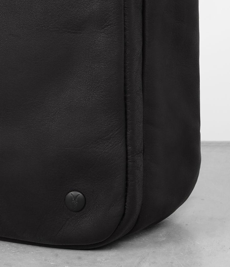 Mens Hayes Leather Workbag (black) - Image 6