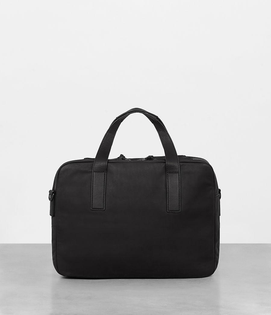 Mens Hayes Leather Workbag (black) - Image 7