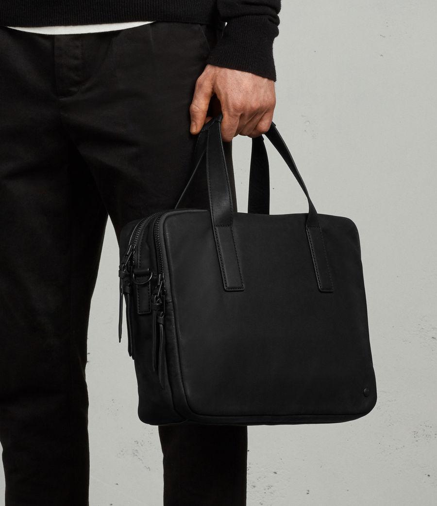 Mens Hayes Leather Workbag (black) - Image 8