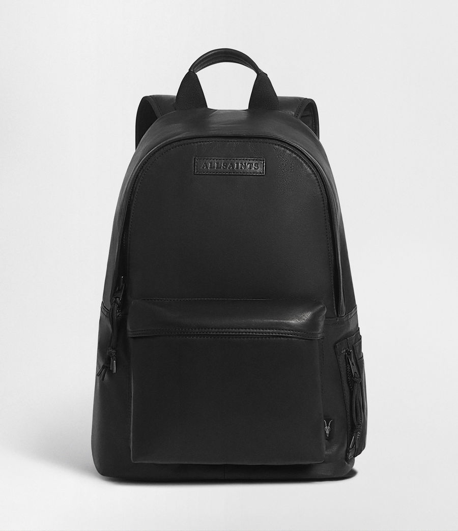 Men's Hayes Leather Rucksack (black) - Image 1