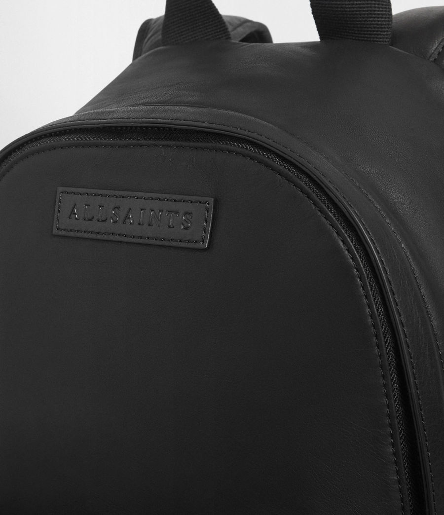 Men's Hayes Leather Rucksack (black) - Image 4