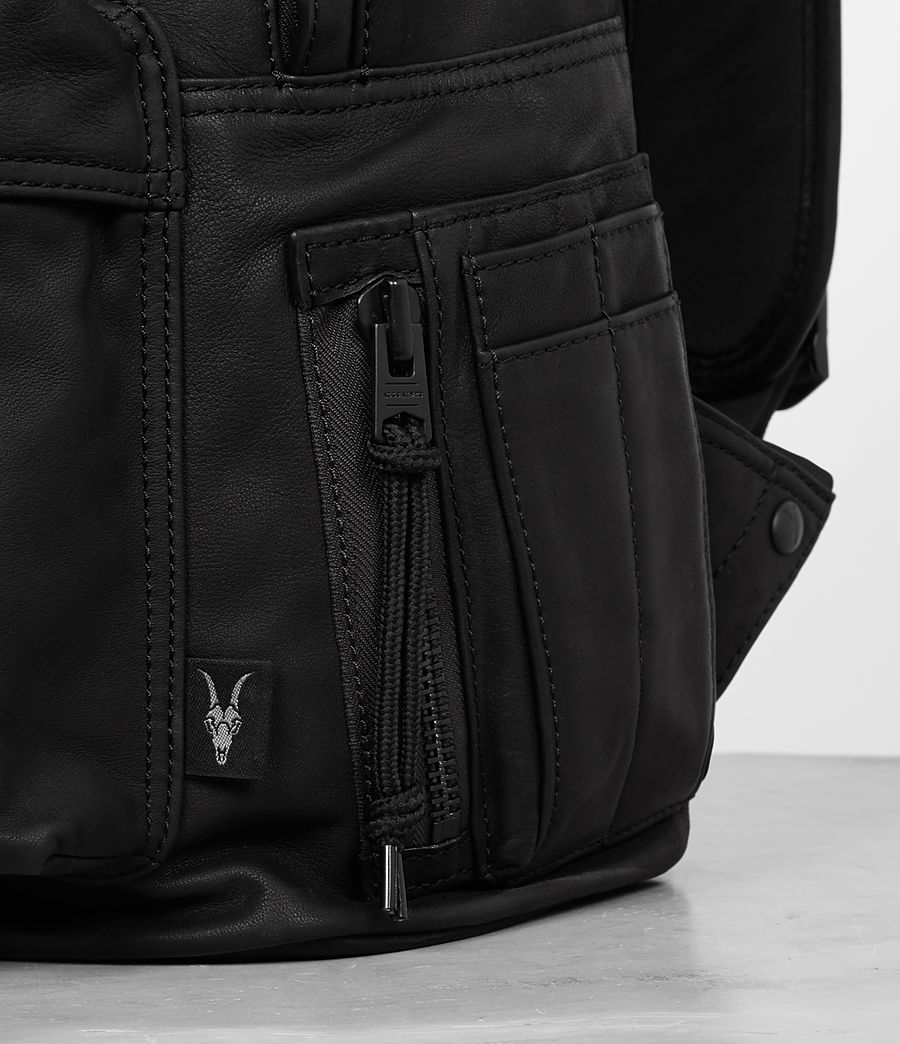 Men's Hayes Leather Rucksack (black) - Image 2