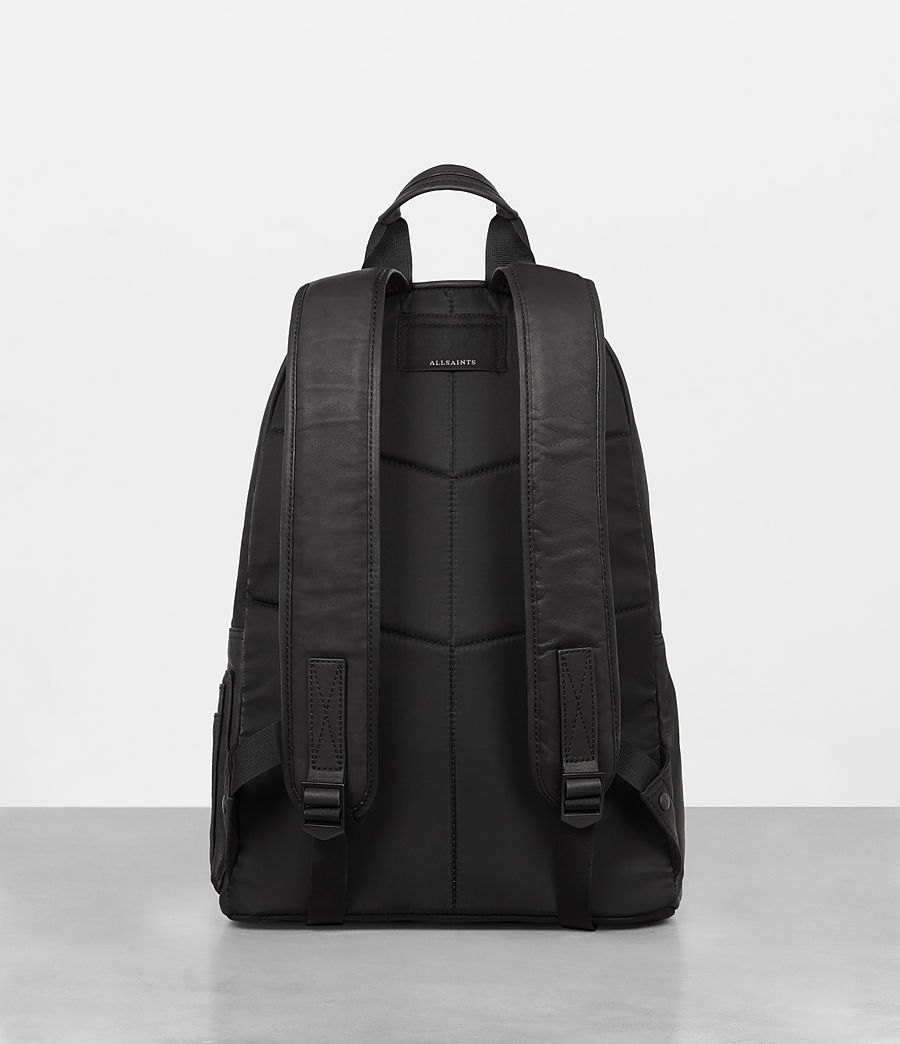 Mens Hayes Leather Rucksack (black) - Image 7