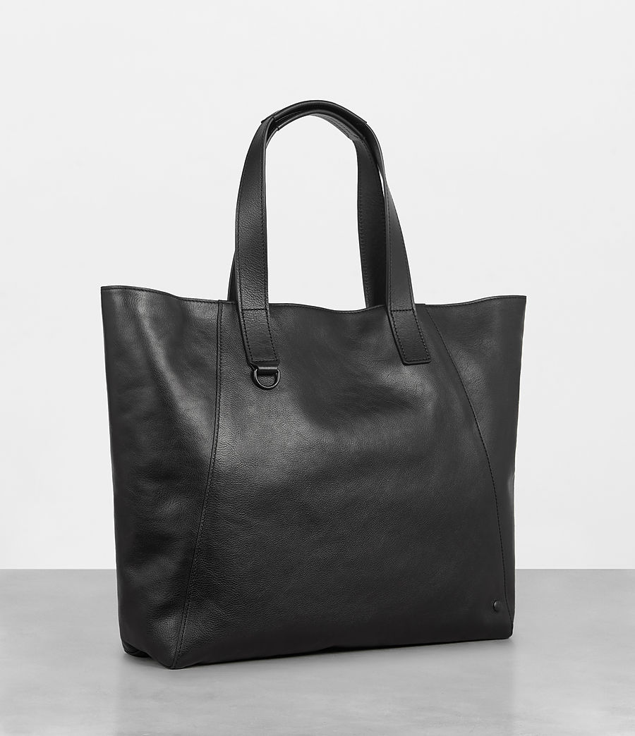 Men's Hudson Leather Tote (black) - Image 5