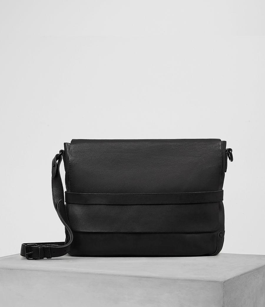 Hombre Storm Leather Messenger Bag (washed_black) - Image 1