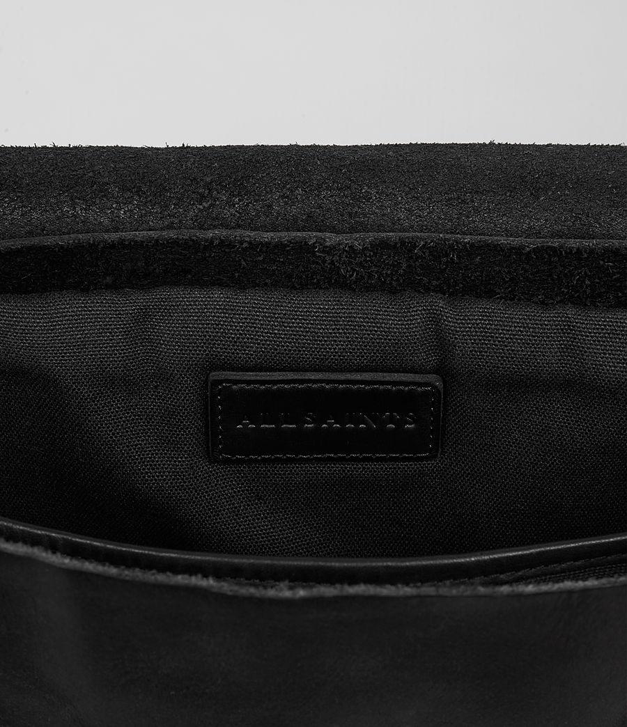 Hombre Storm Leather Messenger Bag (washed_black) - Image 4