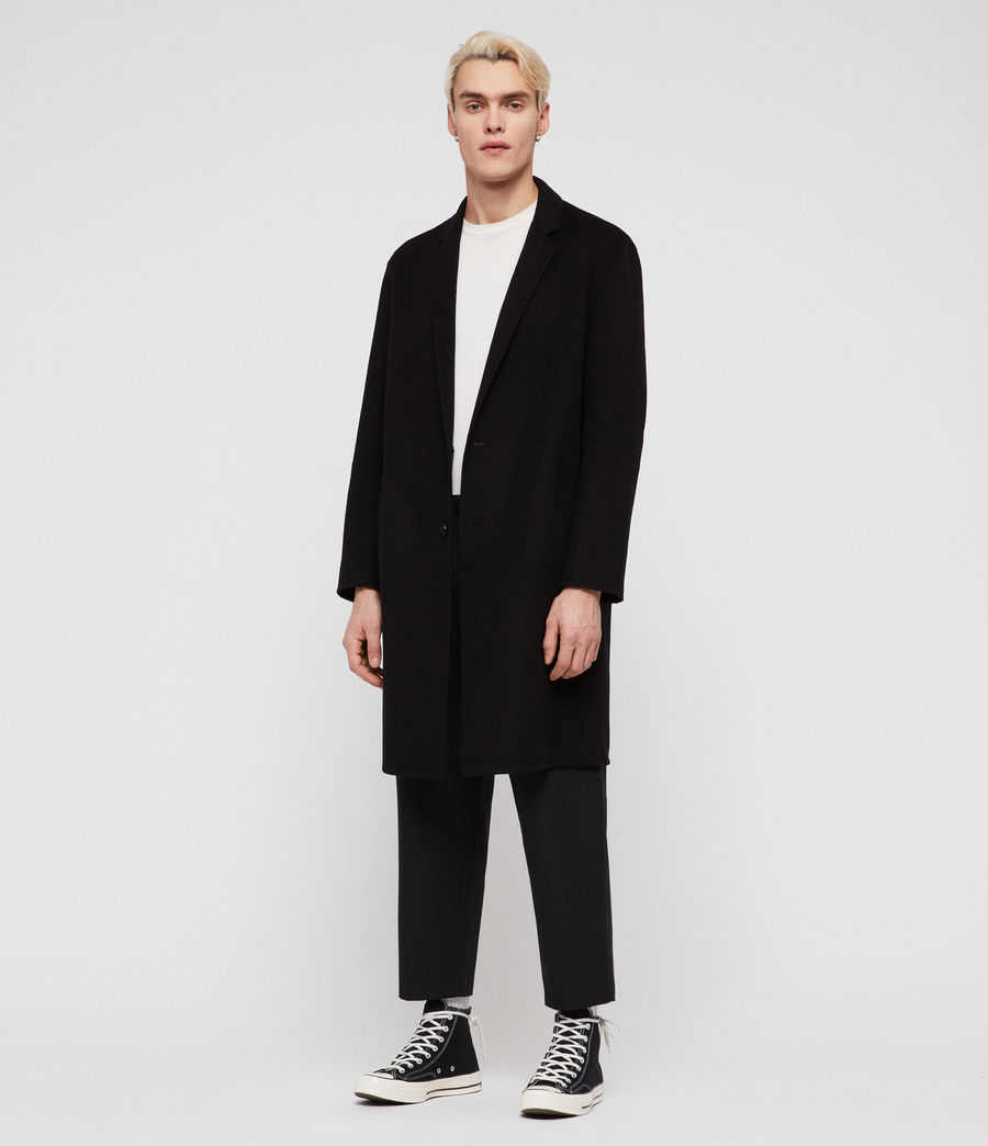 Mens Foley Coat (black) - Image 1
