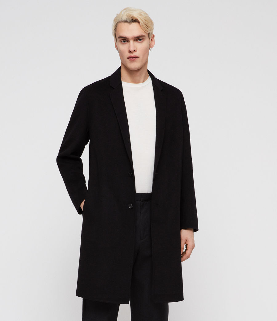 Mens Foley Coat (black) - Image 3
