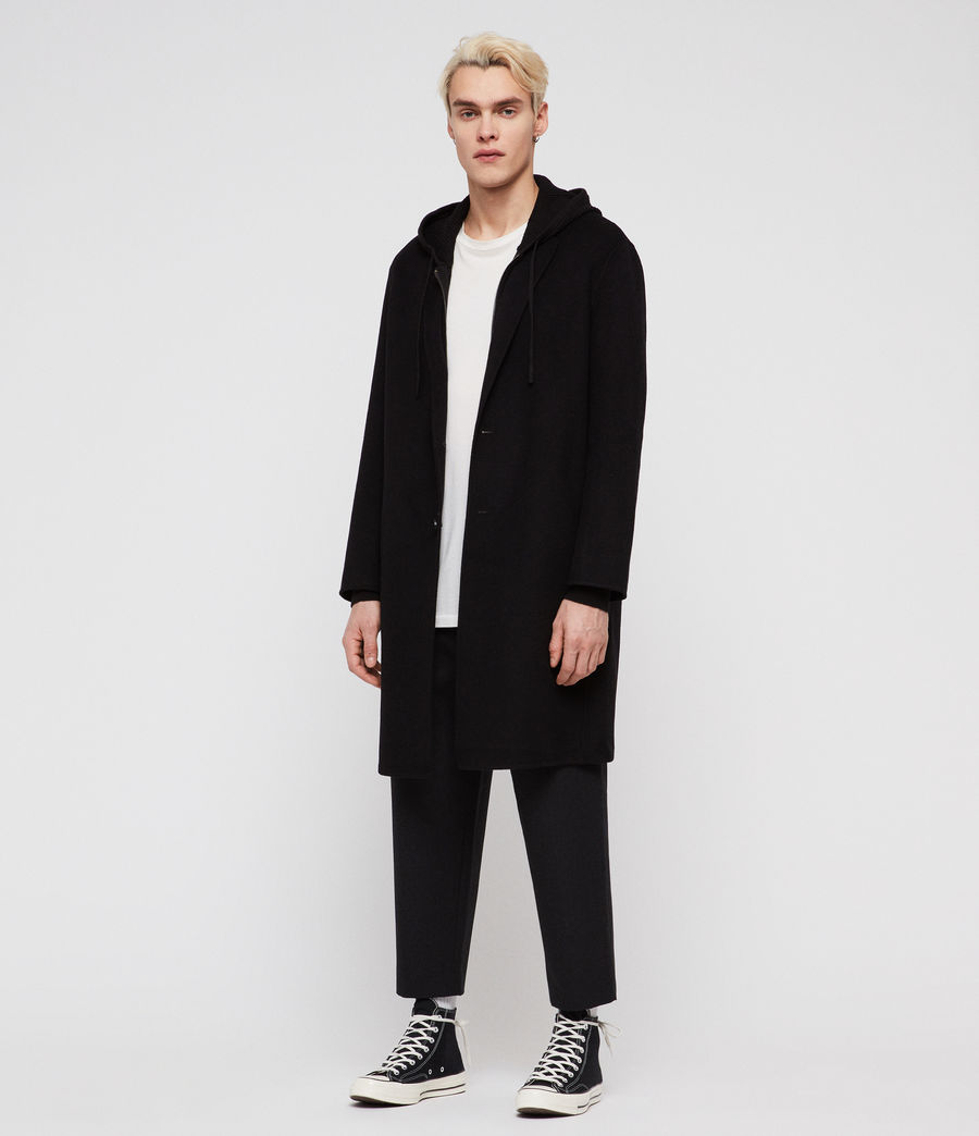 Mens Foley Coat (black) - Image 4