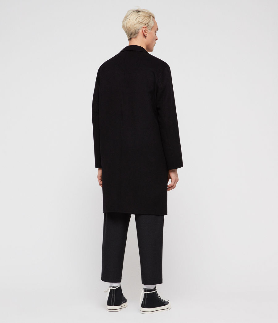 Mens Foley Coat (black) - Image 5