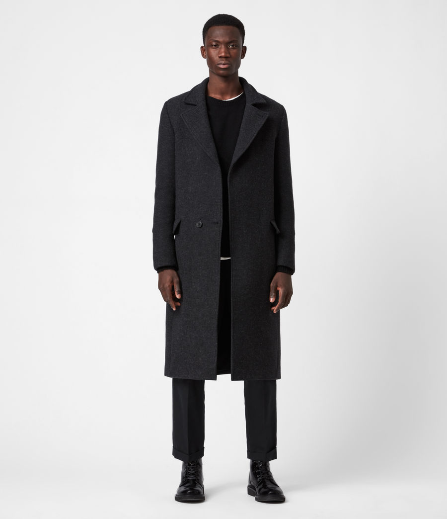 Men's Daxon Wool Blend Coat (charcoal) - Image 1