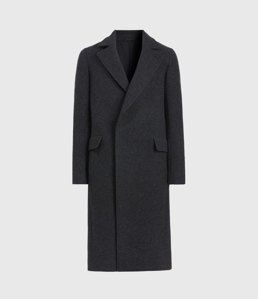 Men's Daxon Wool Blend Coat (charcoal) - Image 2