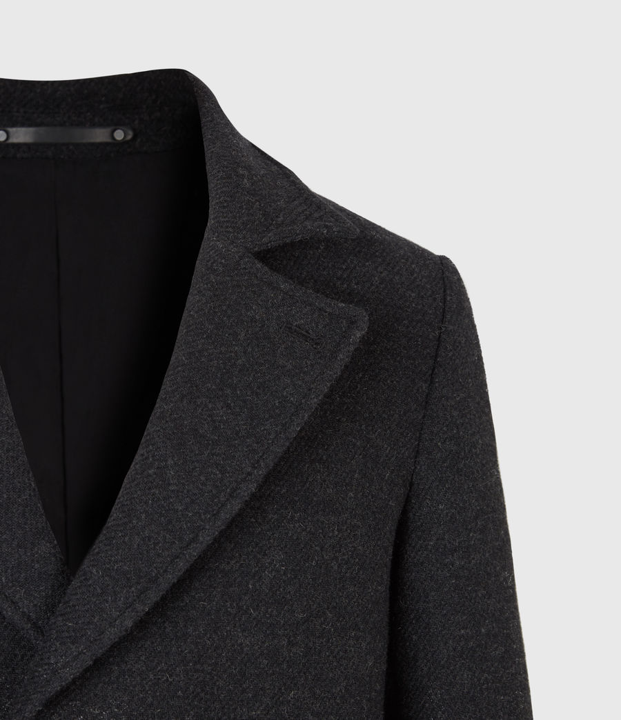 Men's Daxon Wool Blend Coat (charcoal) - Image 5