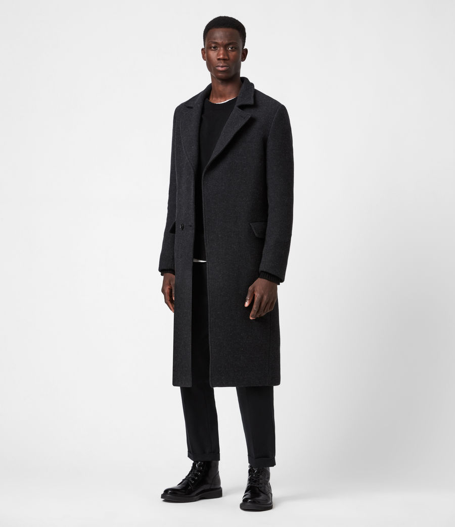 Men's Daxon Wool Blend Coat (charcoal) - Image 7