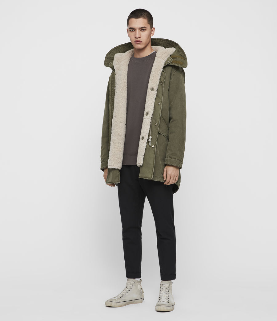 Mens Staunton 4-in-1 Shearling Parka (dull_khaki_green) - Image 1