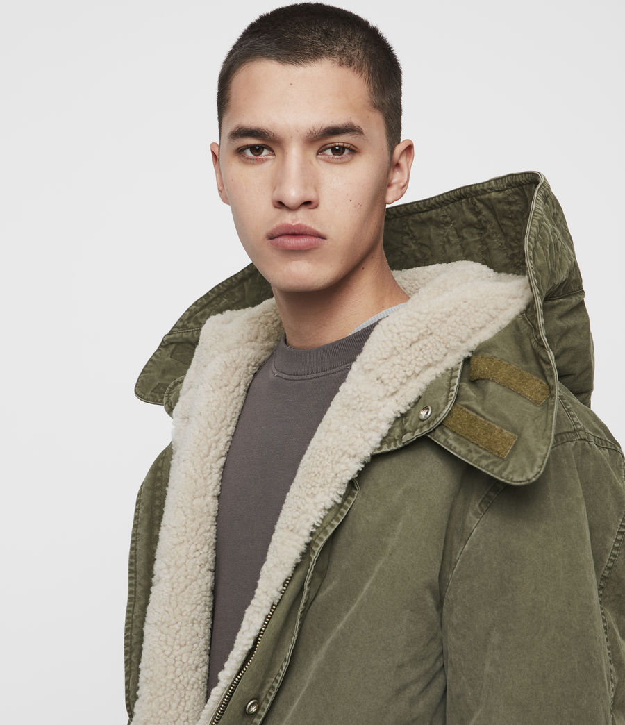 Mens Staunton 4-in-1 Shearling Parka (dull_khaki_green) - Image 2