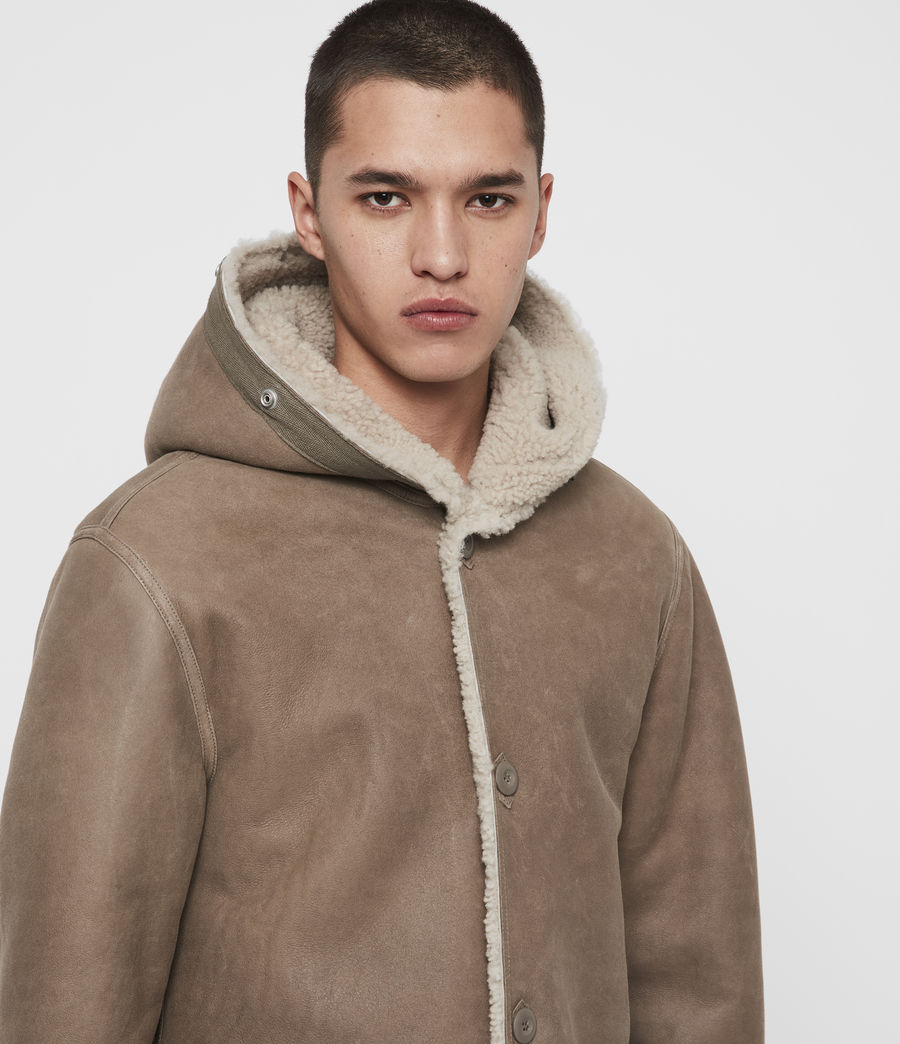Men's Staunton 4-in-1 Shearling Parka (dull_khaki_green) - Image 3
