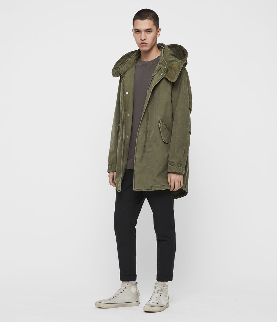 Mens Staunton 4-in-1 Shearling Parka (dull_khaki_green) - Image 4