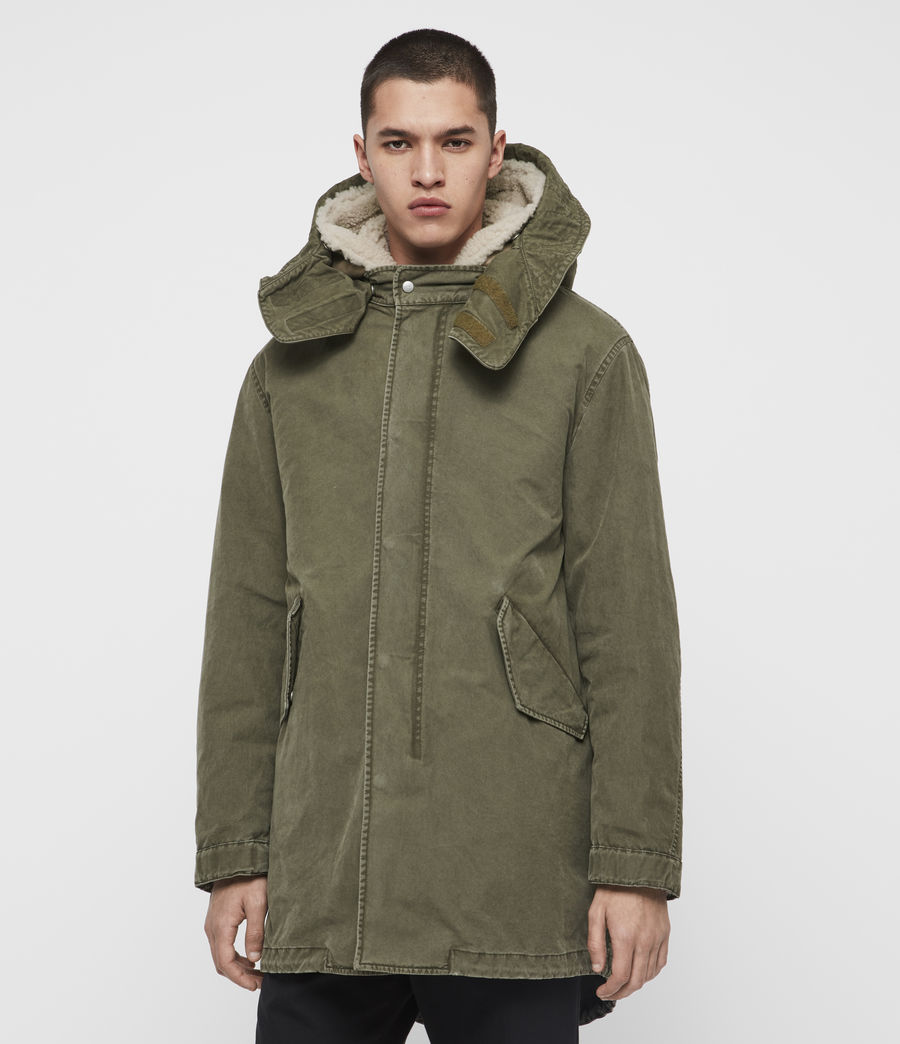 Mens Staunton 4-in-1 Shearling Parka (dull_khaki_green) - Image 5