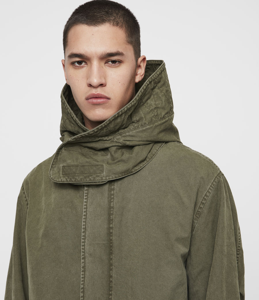 Mens Staunton 4-in-1 Shearling Parka (dull_khaki_green) - Image 6
