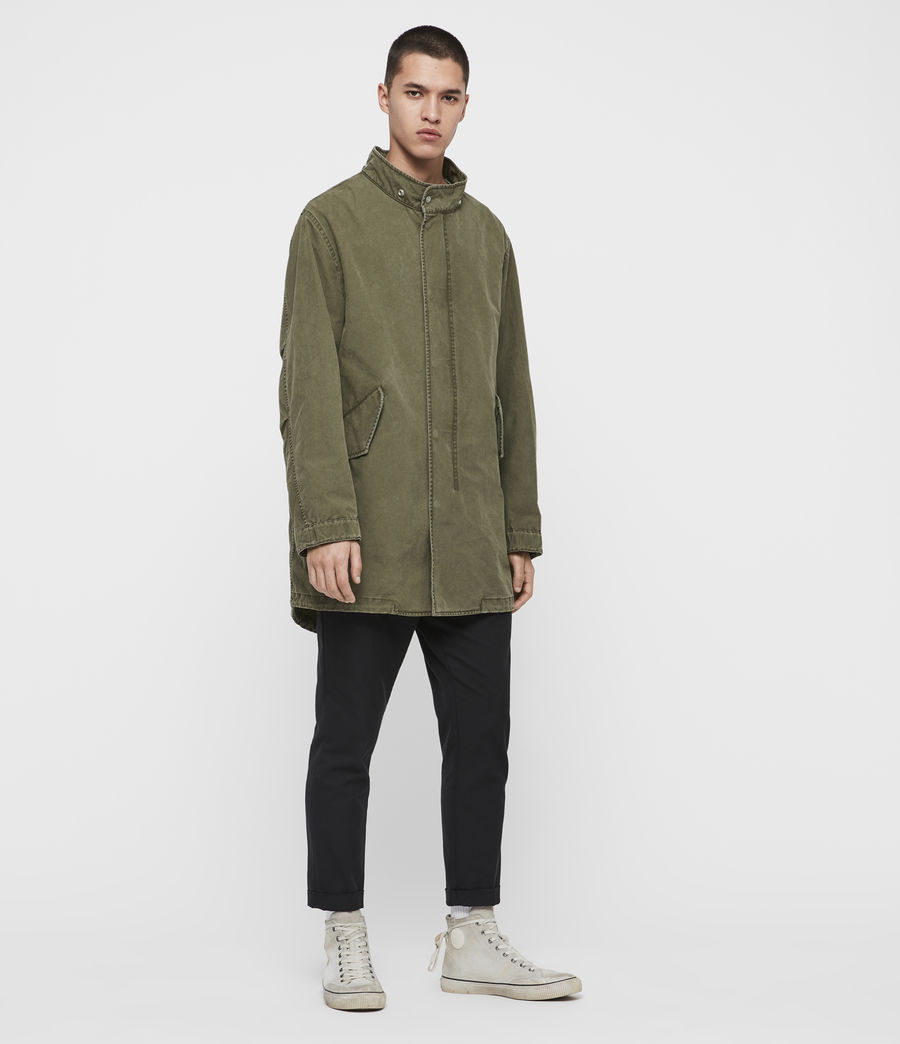 Mens Staunton 4-in-1 Shearling Parka (dull_khaki_green) - Image 7