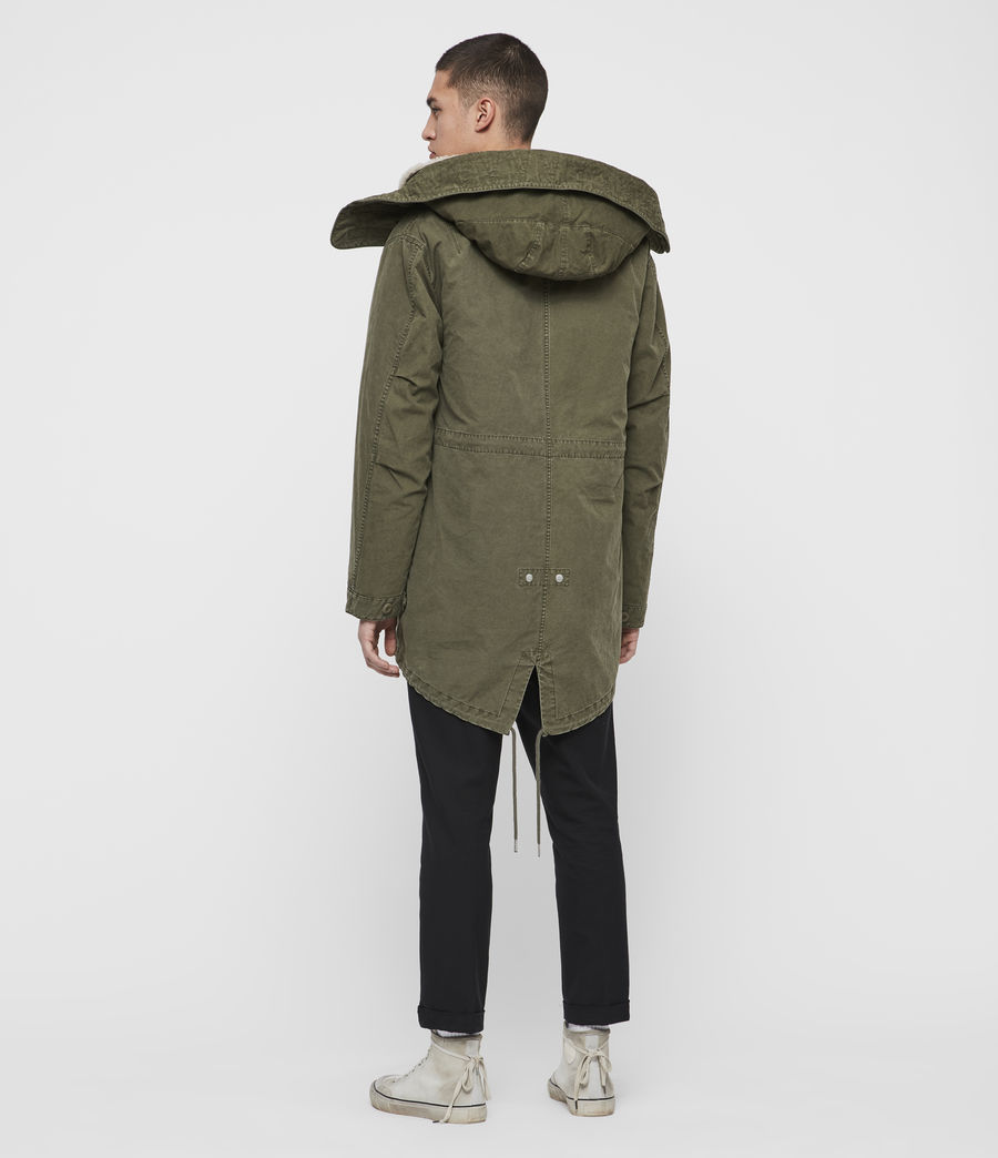Mens Staunton 4-in-1 Shearling Parka (dull_khaki_green) - Image 9