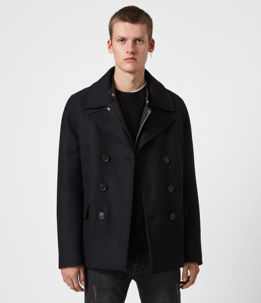 Hommes Altair Wool Blend Peacoat (black) - Image 1