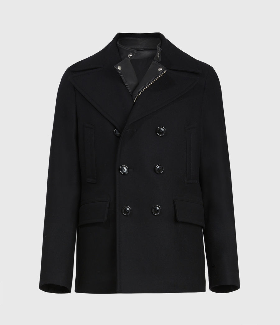 Hommes Altair Wool Blend Peacoat (black) - Image 2
