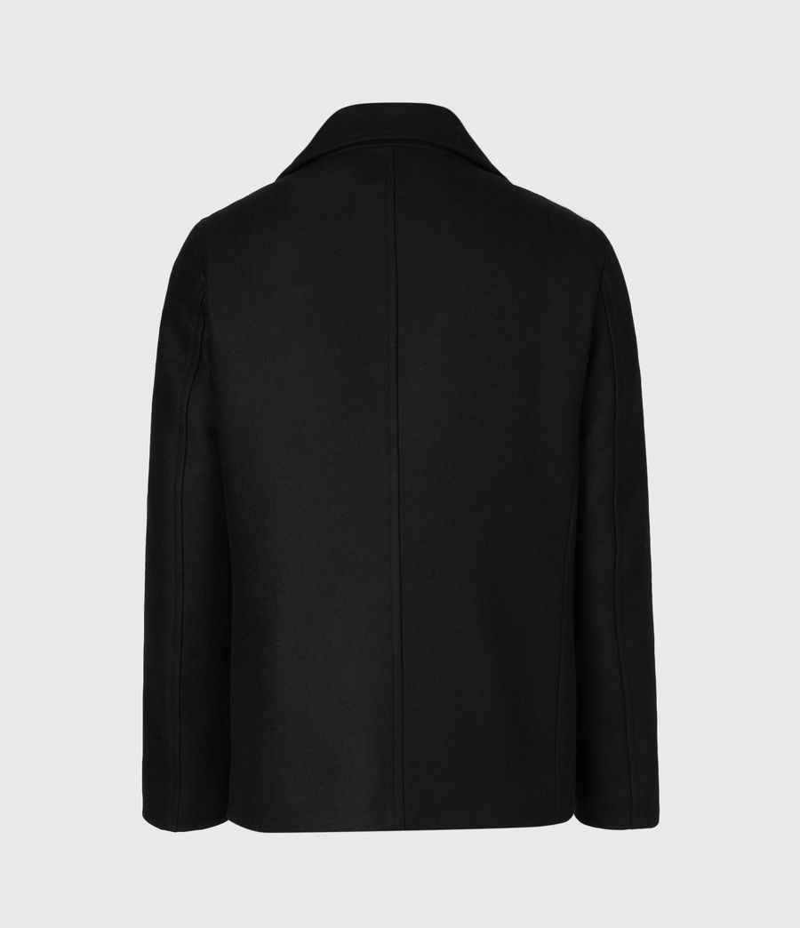 Hommes Altair Wool Blend Peacoat (black) - Image 3