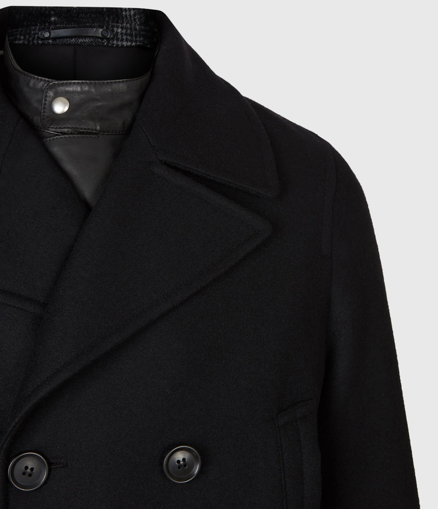 Hommes Altair Wool Blend Peacoat (black) - Image 5