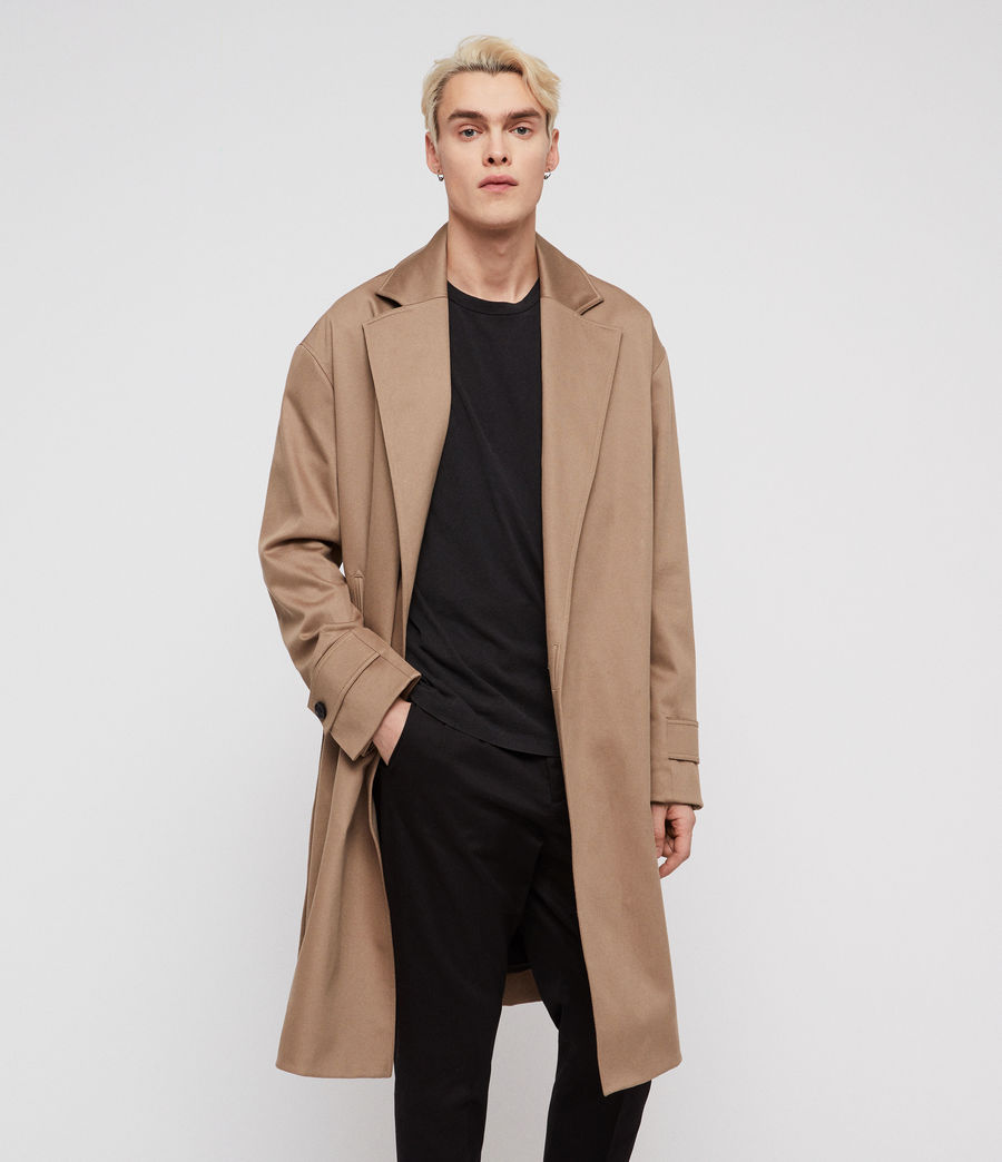 Mens Reynolds Trench Coat (sand) - Image 3