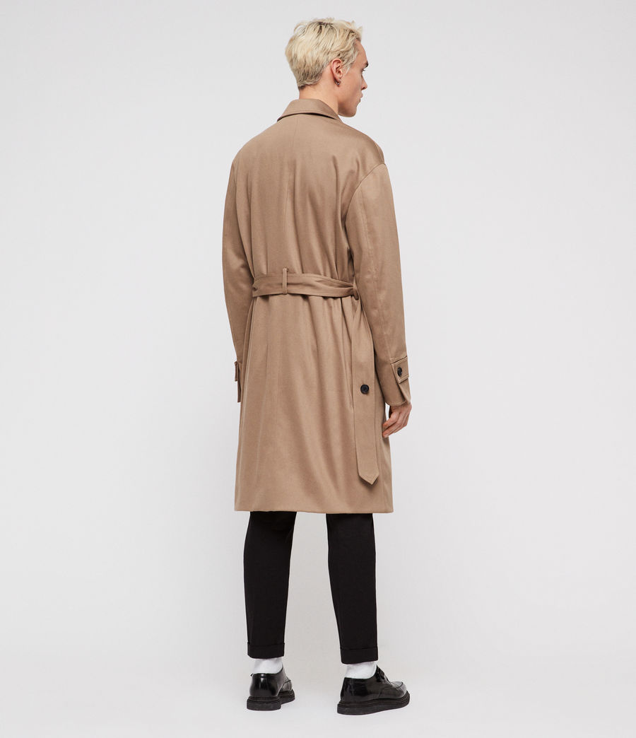 Mens Reynolds Trench Coat (sand) - Image 5