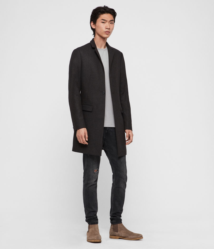 Hommes Manteau Berkley (charcoal_brown) - Image 2