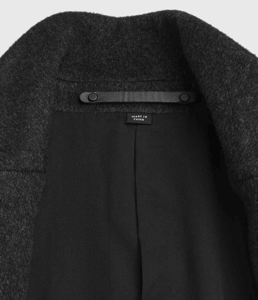 Men's Bodell Wool Coat (charcoal_grey) - Image 11