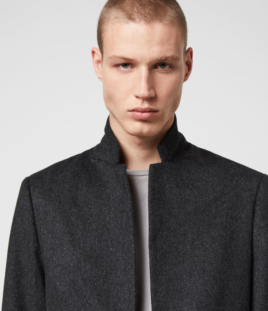 Mens Bodell Wool Coat (charcoal_grey) - Image 2