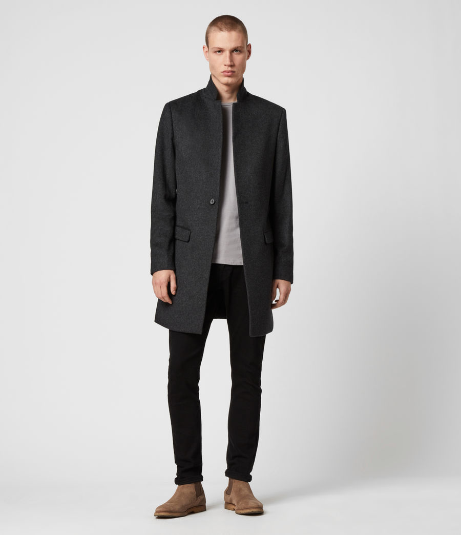 Mens Bodell Wool Coat (charcoal_grey) - Image 3