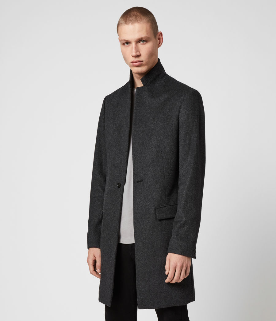 Mens Bodell Wool Coat (charcoal_grey) - Image 4
