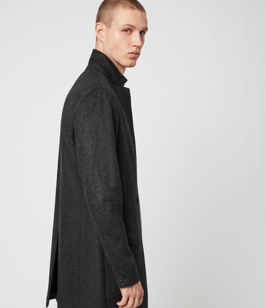 Mens Bodell Wool Coat (charcoal_grey) - Image 5