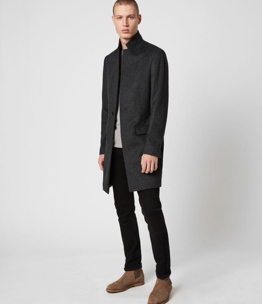 Mens Bodell Wool Coat (charcoal_grey) - Image 6
