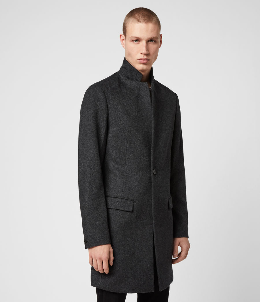 Mens Bodell Wool Coat (charcoal_grey) - Image 7