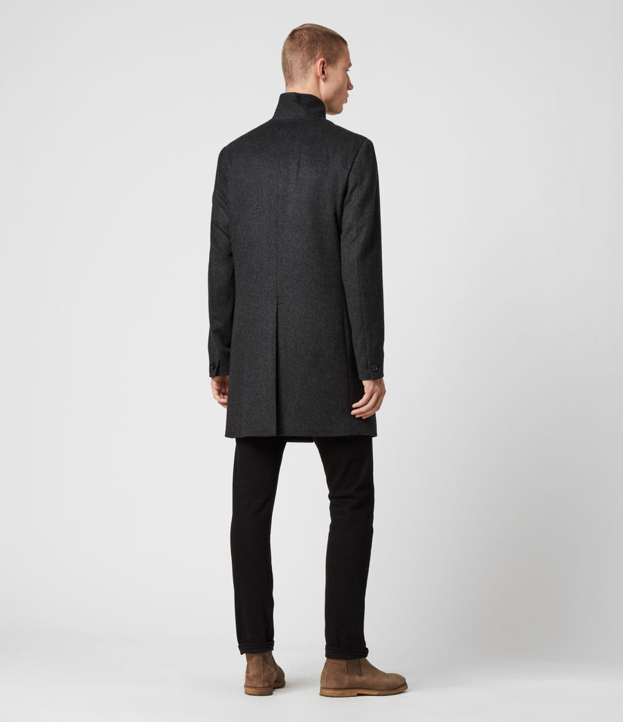 Mens Bodell Wool Coat (charcoal_grey) - Image 8