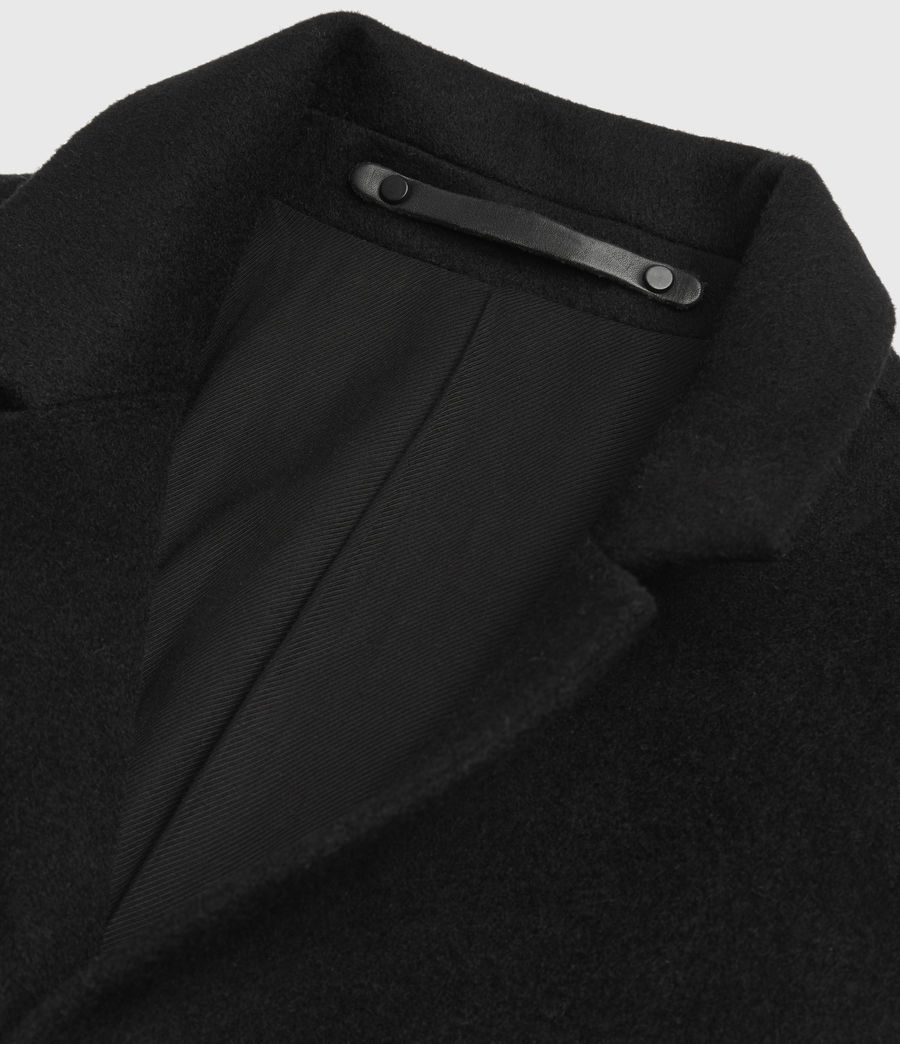 Men's Bodell Wool Coat (black) - Image 10