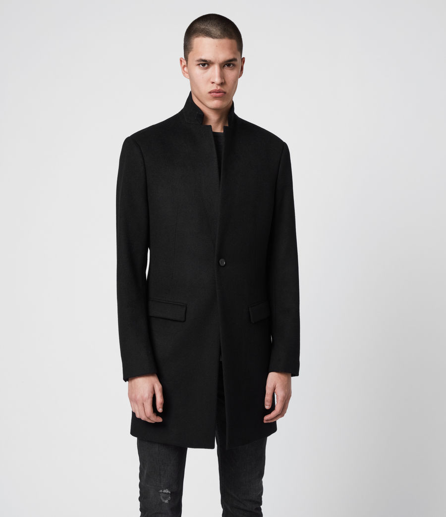 Men's Bodell Wool Coat (black) - Image 3