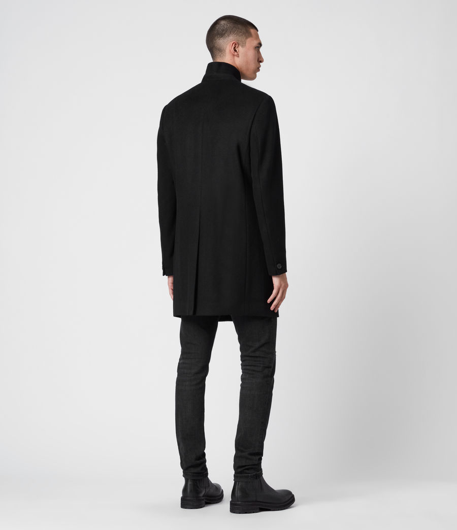 Men's Bodell Wool Coat (black) - Image 8