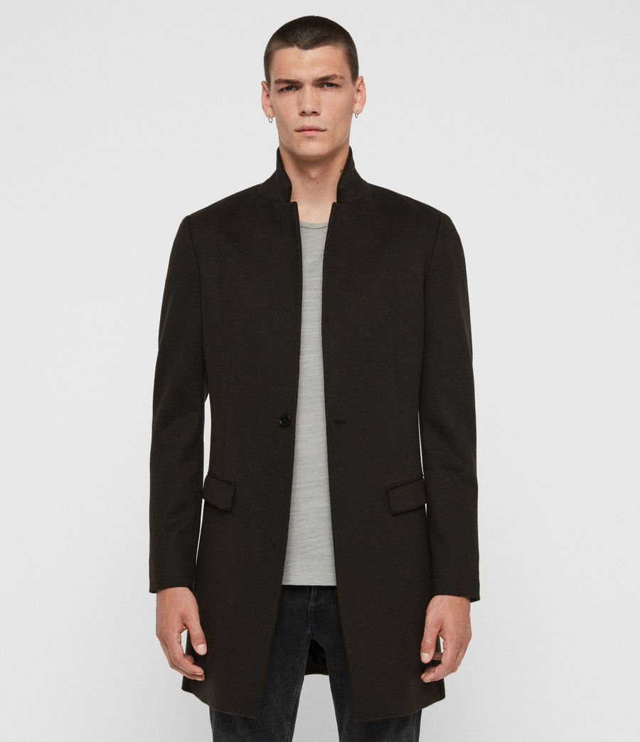 Men's Bodell Wool Coat (black) - Image 1
