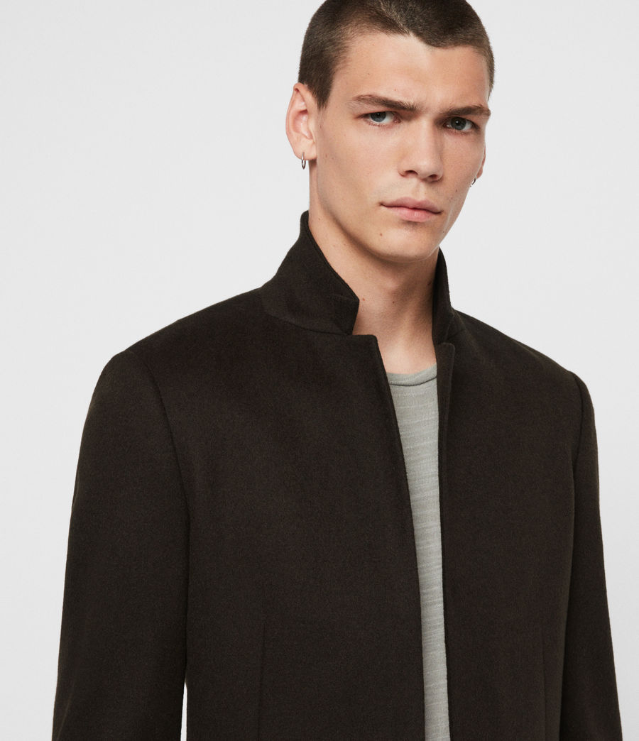 Men's Bodell Wool Coat (black) - Image 2