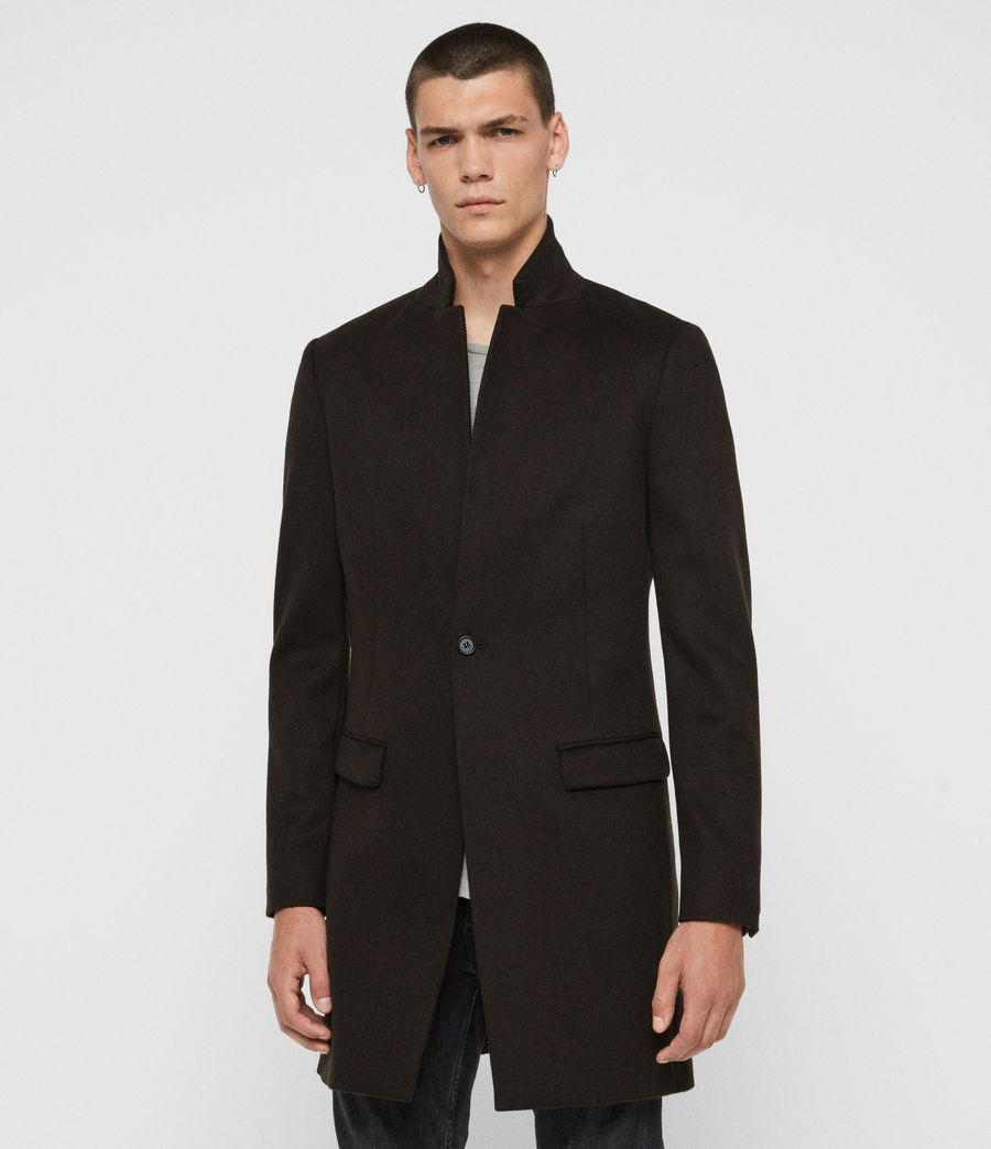 Men's Bodell Wool Coat (black) - Image 4