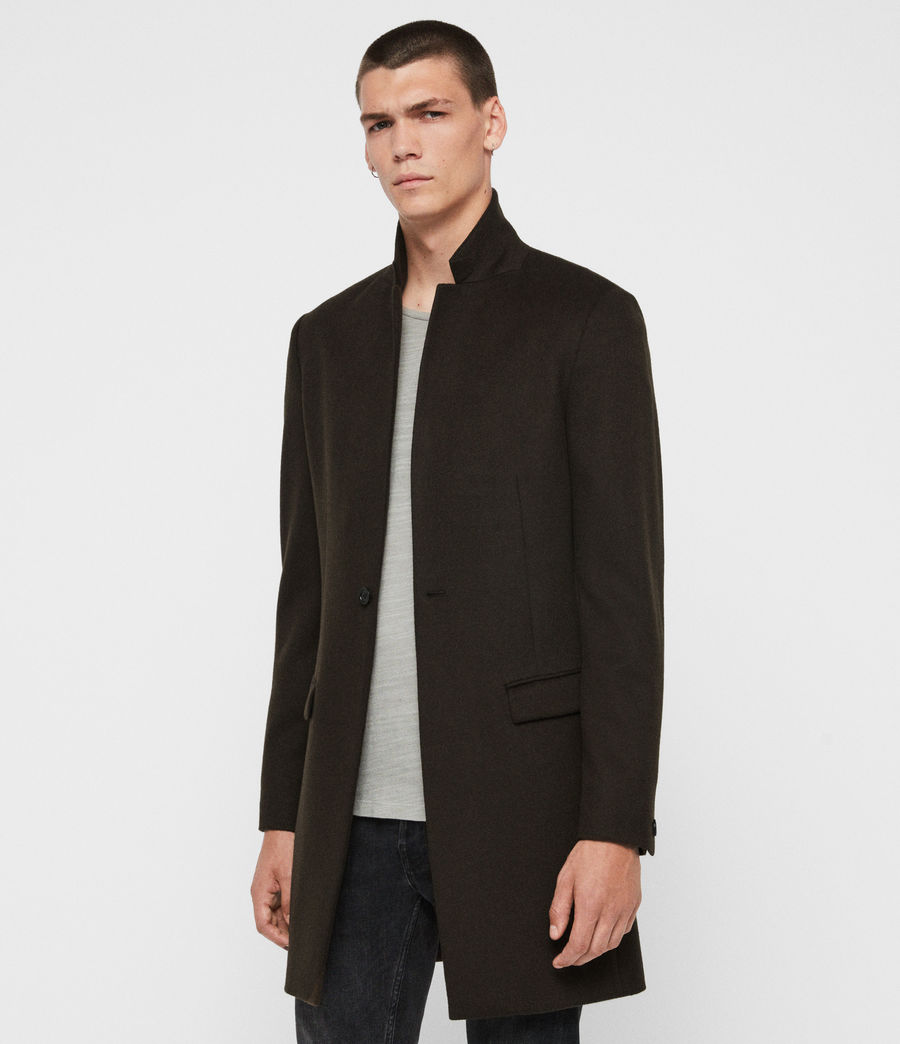 Men's Bodell Wool Coat (black) - Image 5