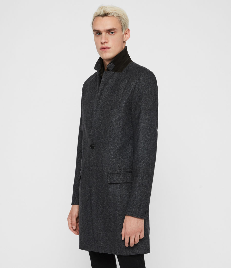 Men's Merton Coat (charcoal_grey) - Image 4